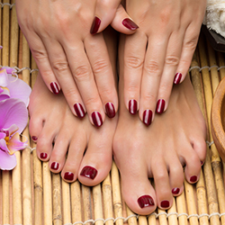GEL MANICURE & PEDICURE